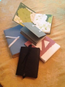 Book binding at The Women's Studio Workshop in Rosendale, New York